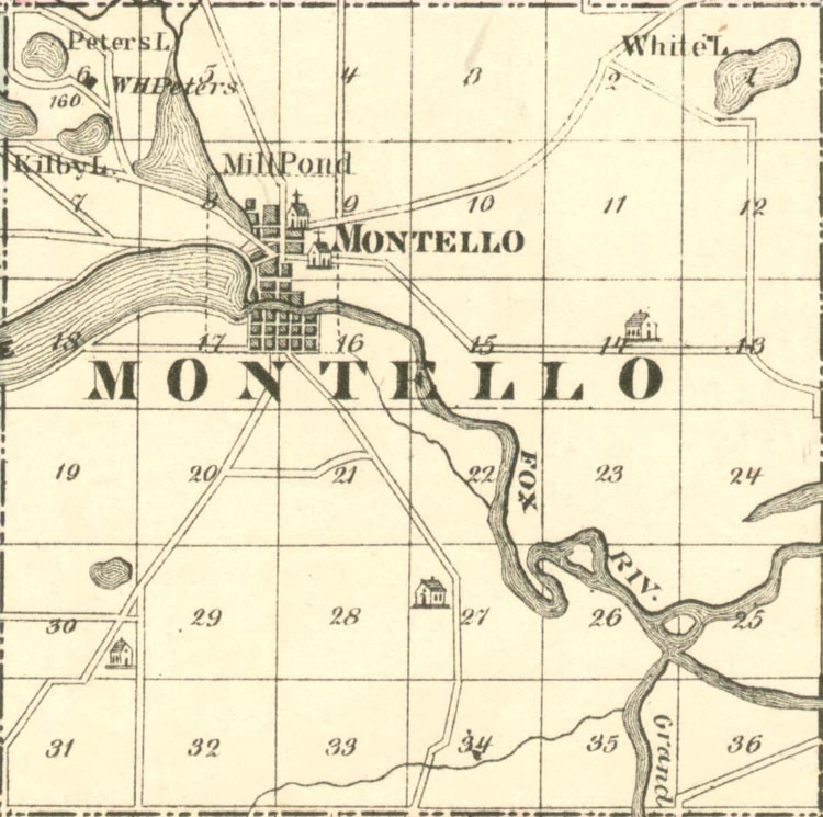 Map of Montello, Wisconsin