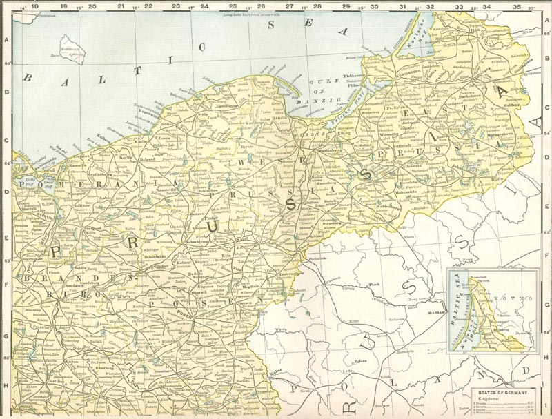 1911 Prussian map